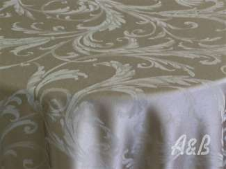 Gabrielle Damask Tablecloth - available for round tables