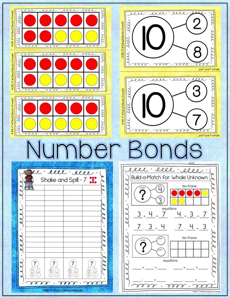 Number Bonds Composing Decomposing Numbers Through 10