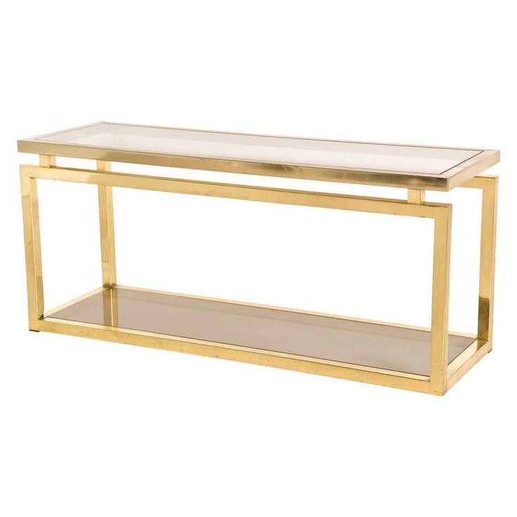 Vintage Brass Console | From a unique collection of antique and modern console tables at http://www.1stdibs.com/furniture/tables/console-tables/