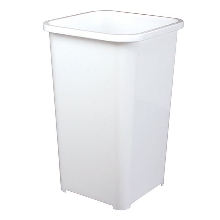 knape & vogt 6.75-gallon white plastic trash can at lowes