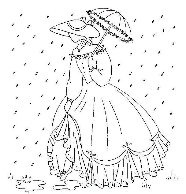 mujer bajo la lluvia,hermozo