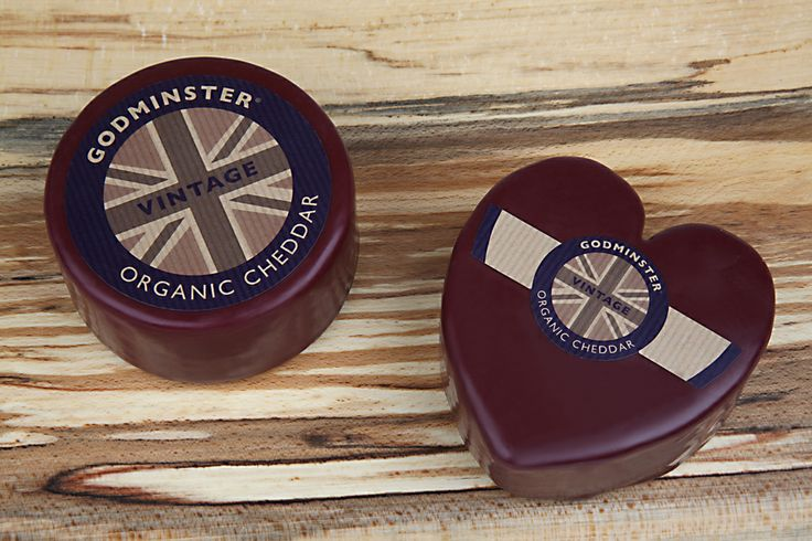 Just the thing for Mother's Day ..... aheart shaped organic Godminster cheddar cheese!!!