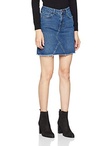 69b1483e3 New Look Harvey Cut Off Jupe Femme Bleu (Mid Blue) 38 (Taille Fabricant:  10). New Look Women's 5640182 Skirt ...