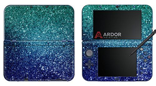 """Stary Sky Ombre Shimmer Protective Vinyl Skin/Decal/Sticker. Compatible with the """"NEW"""" Nintendo 3DS XL. For sale on Amazon for $13.99, by ARDOR Designs."""
