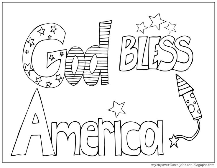 GodBlessAmerica.jpg (1600×1237) Coloring pages, God