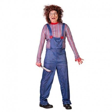 Disfraces Halloween | Disfraz de chucky. Conviértete en el muñeco más diabólico. Con un rapido maquillaje y este disfraz seras el terror del barrio. Compuesto de buzo con camiseta. Talla M/L. 14,95€ #chucky #muñecodiabolico  #disfrazchucky #disfraz #halloween #disfrazhalloween #disfraces