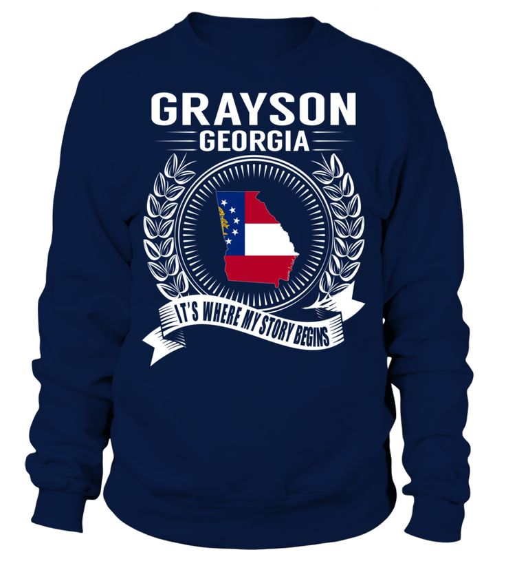 Grayson, Georgia Its Where My Story Begins T-Shirt #Grayson