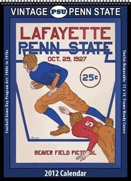 2012 Vintage Penn State Nittany Lions Football Calendar