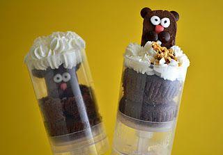 Adorable Groundhog's Day Snack: Ground Hog, Food, Push Up, Cupcake Push, Push Pops, Groundhog Day