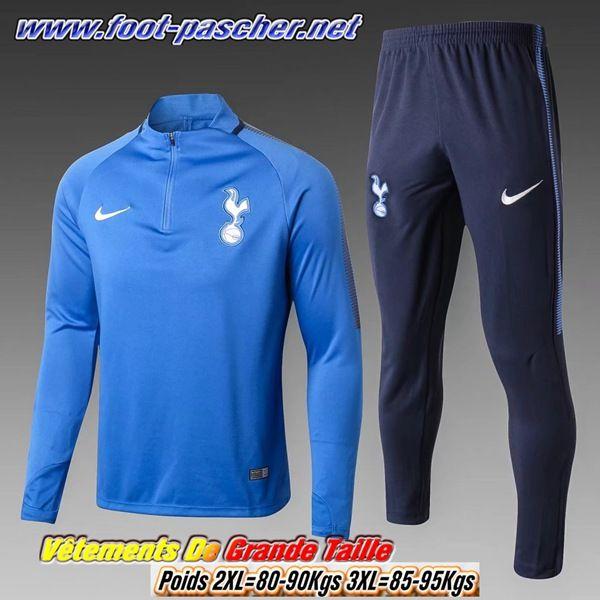 Grande Taille Survetement Foot Tottenham Hotspur Homme Bleu