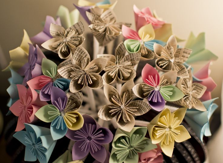 Flowers made with paper