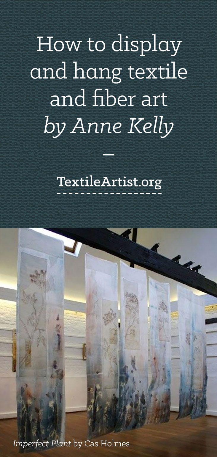 Displaying and hanging textile art