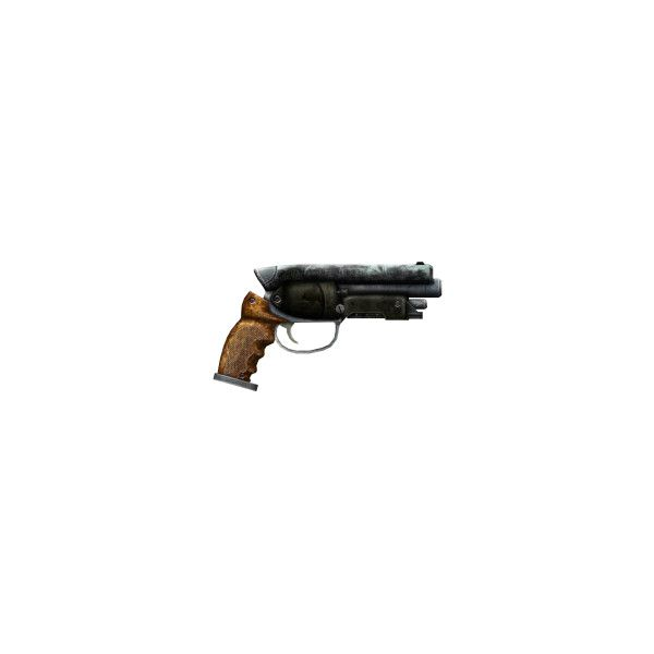 That Gun - The Vault, the Fallout wiki - Fallout: New Vegas and more ❤ liked on Polyvore featuring weapons