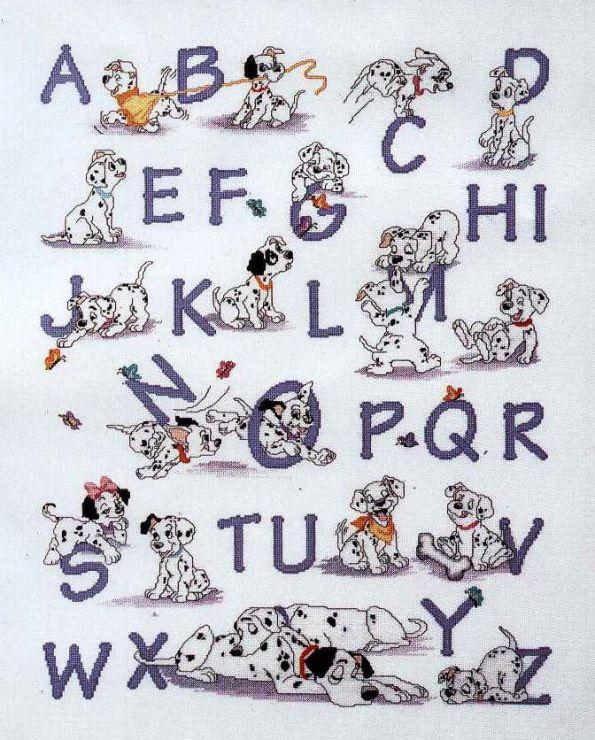 Gallery.ru / Фото #1 - алфавит с долматинцами - frango