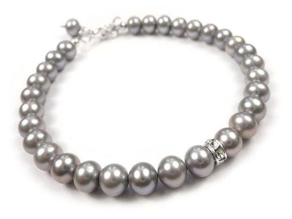 Freshwater Pearl Sparkle Bracelet - Silver