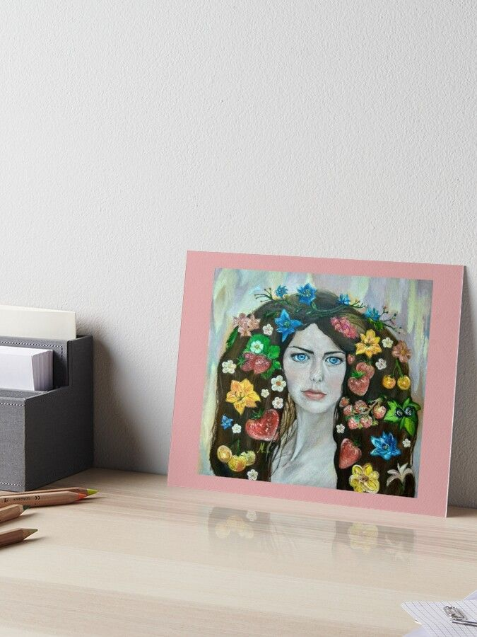 The Portrait Of The Girl Stylized Art Board Print By Mariasibireva In 2020 Art Boards Stylized Cool Wall Decor