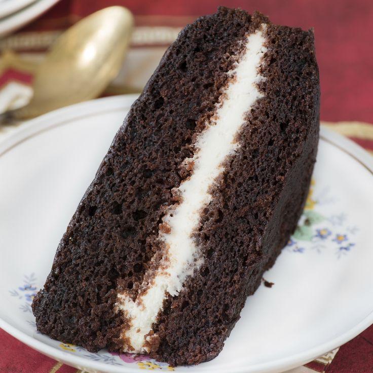 Schokoladenkuchen mit Nutella-Creme-Füllung. Entdecke dieses Rezept mit der Note 5/5, bewertet von 35 Mitgliedern.