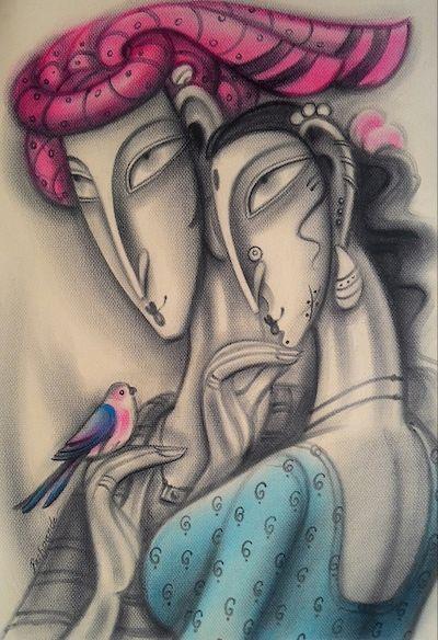 Hear the Little Bird Sing by Ramesh Pachpande on Artflute.com