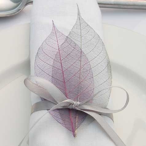 Real Flower Petal Confetti, Wedding, Skeleton Leaves