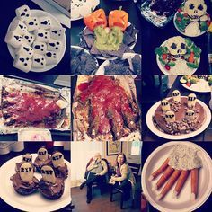 I made all this #creepy #halloween #food for my #birthday #party and #radioshow launch for The Witching Hours on #CKCU 93.1 FM #Ottawa every Tuesday morning from 2AM -7AM You can listen on demand at: http://ift.tt/2oZKK9D Come celebrate with me! :) #food art #radiohost #birthdayfun #paranormal #beastmode #aliens #ghosts #hauntedhouses