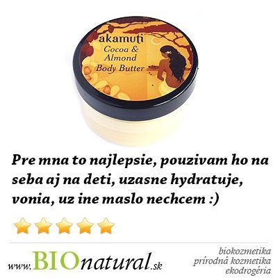 Kakaové a mandľové telové maslo #Akamuti http://www.bionatural.sk/kakaove-a-mandlove-telove-maslo-50-ml-p-2061.html