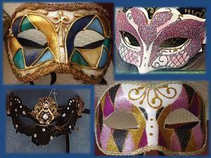 12 ideas para decorar tus mascaras y antifaces.: Decora con pintura y brillantina.
