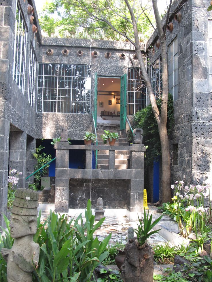 Frida Kahlo's house in Coyoacan, Mexico.