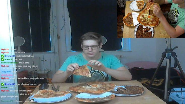 Homemade Pizza | MukBang Deutsch [Live Twitch] eatingshow HTLL