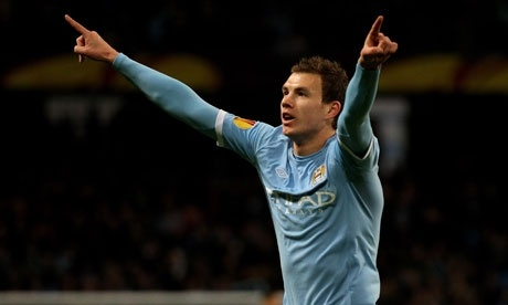 Daily Mirror informs Bundesliga title holders Borussia Dortmund are seriously considering possibility of signing Man City striker Edin Dzeko.