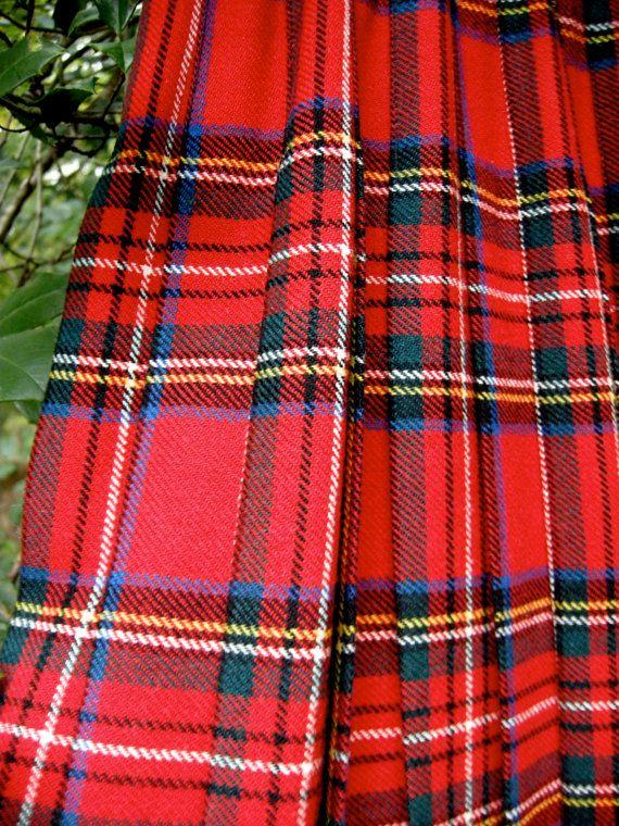 Royal Stewart Kilt - Made in the UK - 1980s