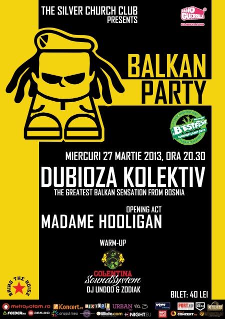Balkan Party - Live concert DUBIOZA KOLEKTIV în cadrul B'Estfest Summer Camp pre-party | tscarena.ro