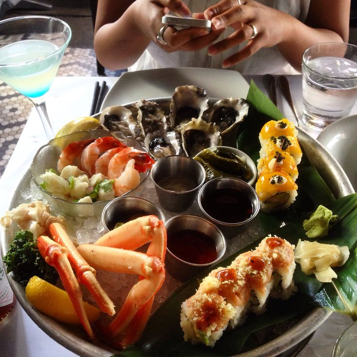 Favorite seafood platter in Coast Restaurant on Alberni.