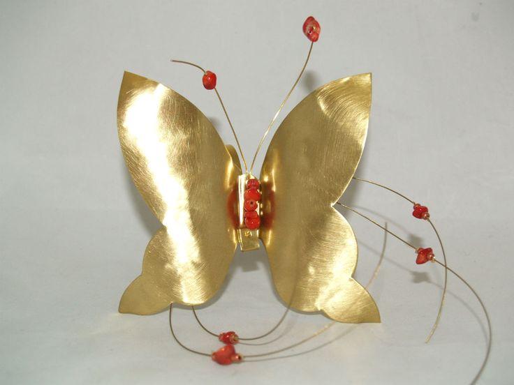Μπρούτζινα Διακοσμητικά : Πεταλούδα