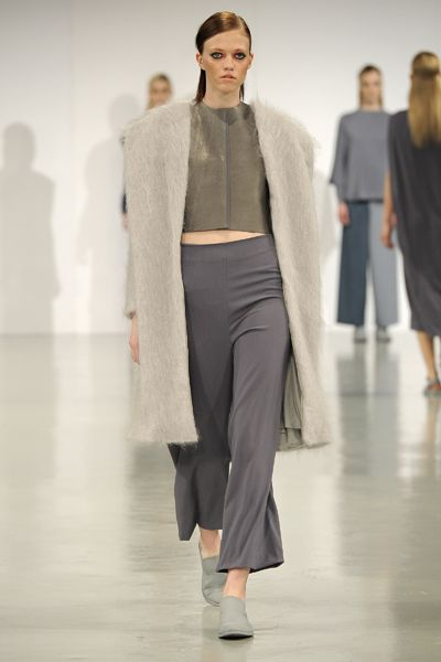 A/W 2013-14 GRADUATE COLLECTION #gfw2013 #graduatefashionweek #suit #womenswear #finalcollection #aw13 #aw14 #minimal #minimalist #lessismore #cashmere #knots #drapery #moulage #slingback #brogue #model #mohair #woolcrepe #leather #silver #grey #shadesofgrey