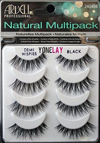 Fun THE Best 4 Pairs Ardell Demi Wispies Natural Multipack False Eyelashes Fake Eye Lashes