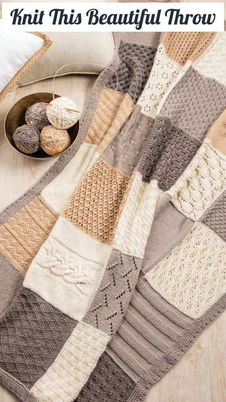 This Crochet Antlers Blanket Square Works Perfectly For Your Rustic