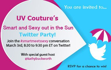 Join our Smart and Sexy Out in the Sun Twitter Party on March 3rd for a fun filled Twitter Party with special guest host Kathy Buckworth.