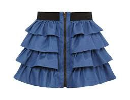 Ruffle Skirt. As an Industry Merchandiser & Marketer I would were this to work because its fun, assertive and it represents me well.Future Merchandise and Marketing grad FiDM -Meneya h