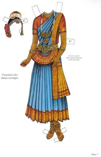 """""""Traditional Fashions from India Paper Dolls"""" by Ming-Ju Sun 