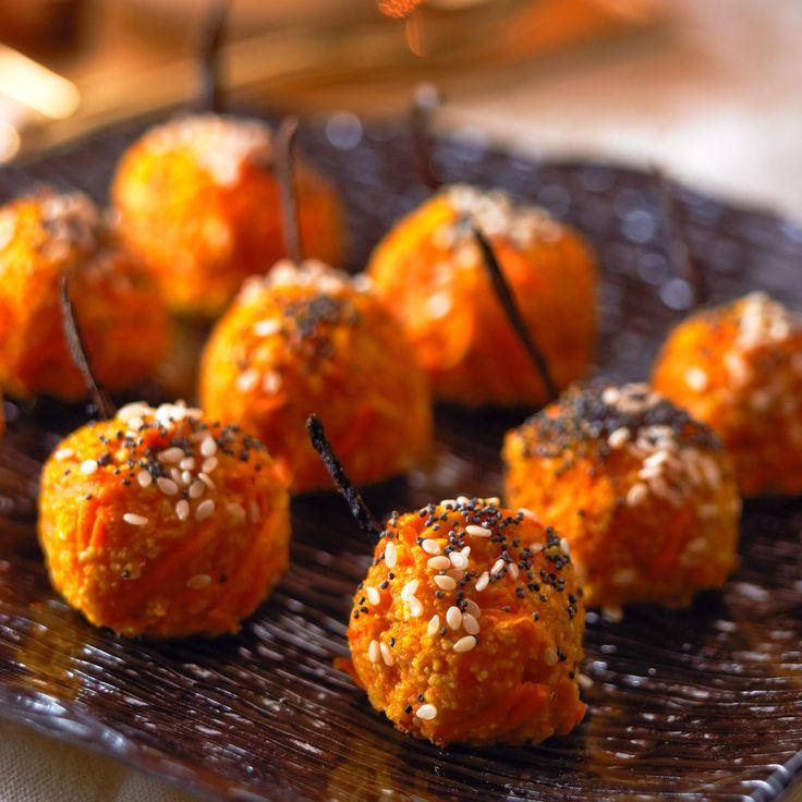 Découvrez la recette Croquettes de carottes au cumin, sésame et pavot sur cuisineactuelle.fr.