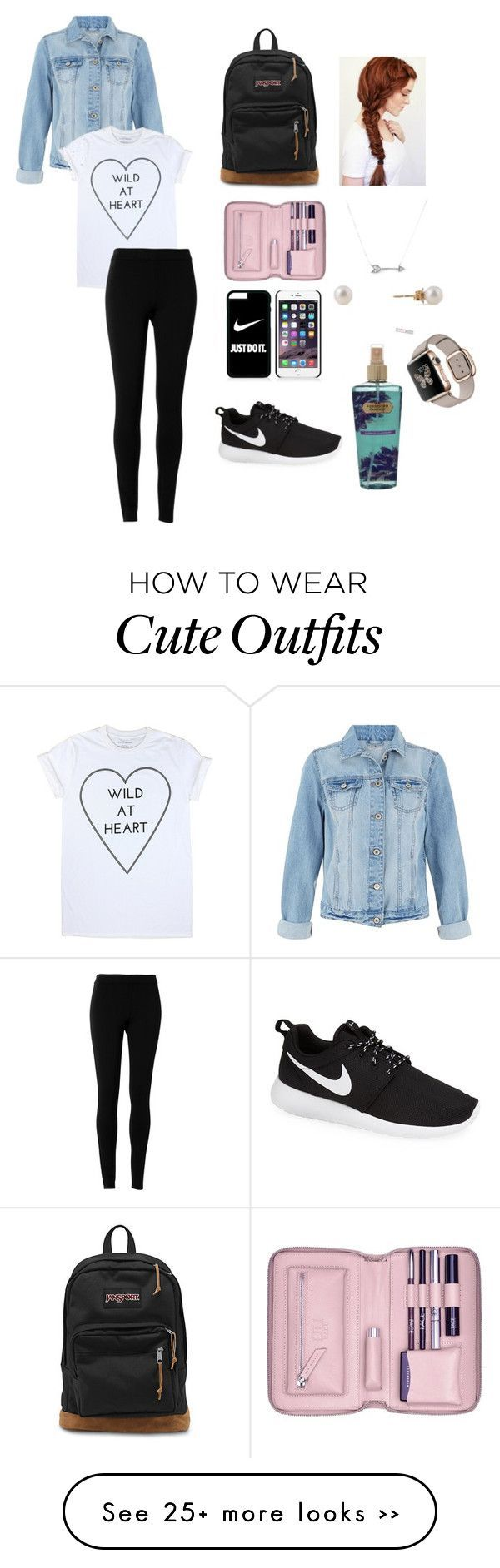"""""""Back to school outfit(comfy outfit)"""" by angelicamagliba on Polyvore featuring Max Studio, NIKE, JanSport, Adina Reyter, Lili Radu and Victoria's Secret"""