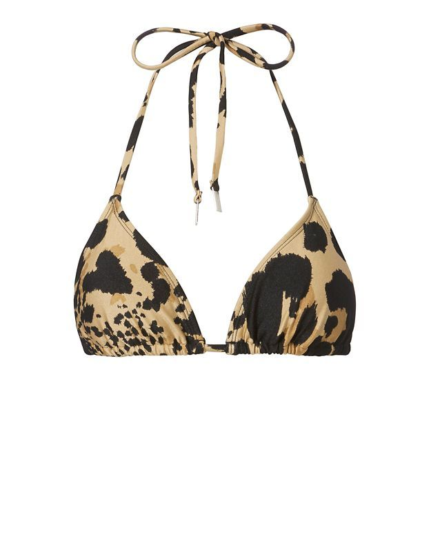 ZIMMERMANN Animal Print Triangle Bikini Top. #zimmermann #cloth #top