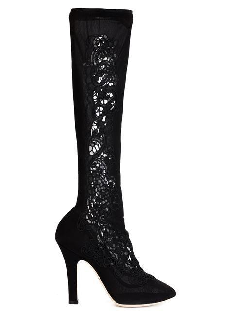 Dolce & Gabbana bottes à design de découpes