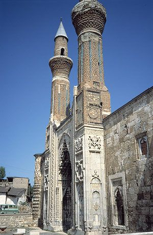 Gök Madrasa (1271) in Sivas.....  http://www.metmuseum.org/toah/hd/aselj/hd_aselj.htm