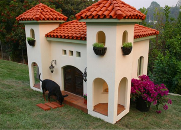 Jahzz | Luxury #Dog_house - add a mini garden for a complete design.