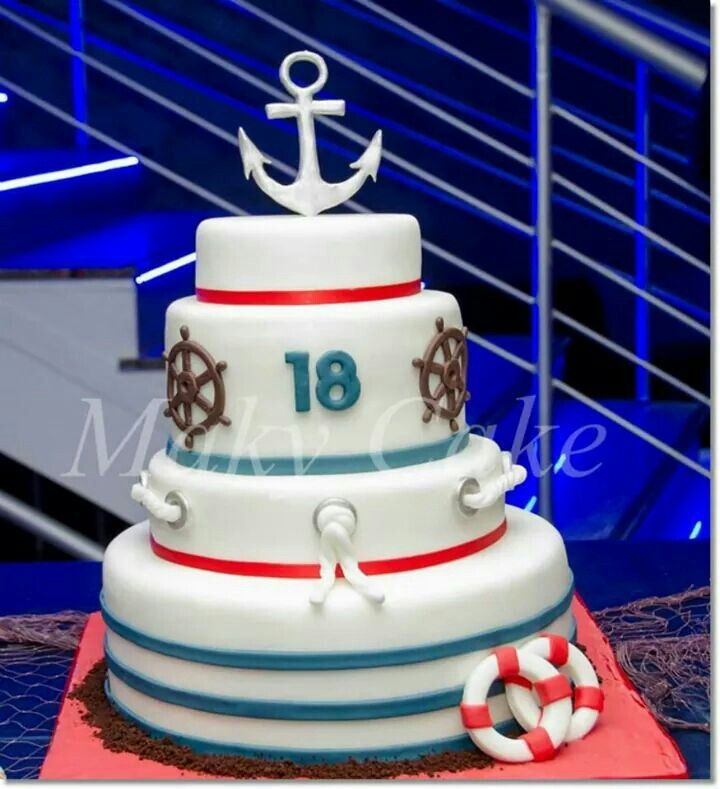 Nautical cake torta per marinaio