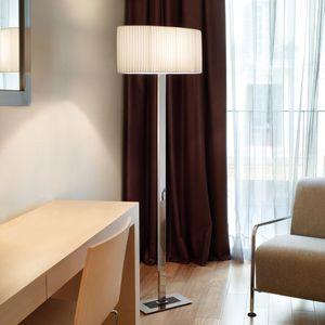 floor-standing lamp / contemporary / cotton / brass