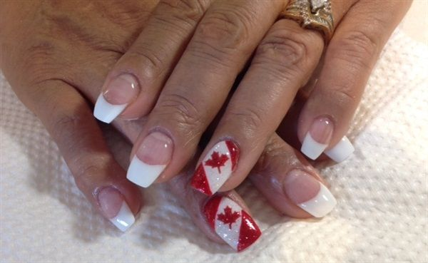 Day 182: Canada Day Nail Art - - NAILS Magazine