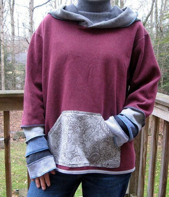 Turnaround Designs Upcycled Sweatshirt Elven by turnarounddesigns