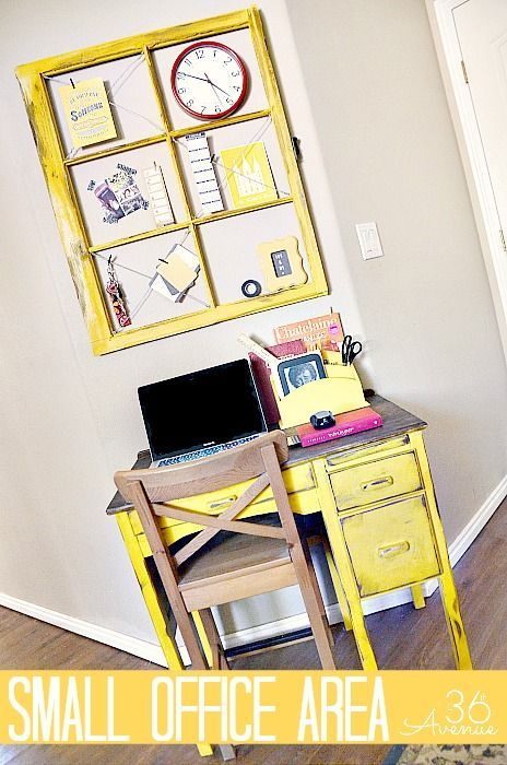 Small Office Makeover and Organization Ideas at  36th Avenue .com